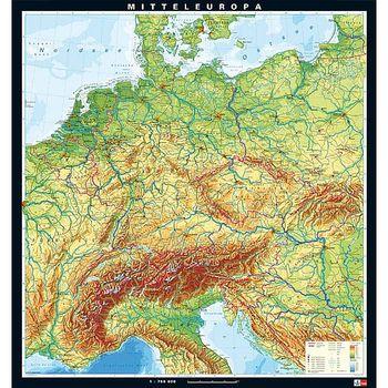 karte mitteleuropa Karte Mitteleuropa, physisch   ivo haas Lehrmittelversand & Verlag